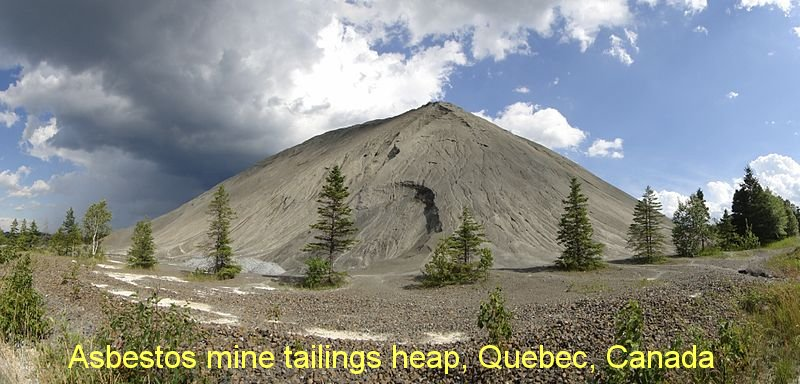 mine Asbestos_Mine_Tailings_Mountain Quebec Canada